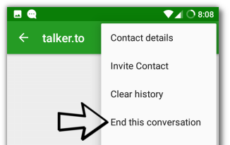 Ending a conversation
